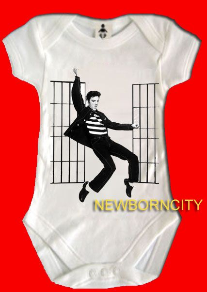400b1c75c ELVIS baby onesie gro rock music Graceland gift king * on PopScreen